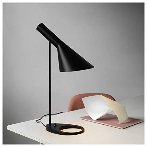 FGART Tischlampe LED Augenschutz Tischlampe E27 Lampenfassung Aj Tischleuchte Schreibtisch Hotel Wohnzimmer Schlafzimmer Nachtzimmer Projekt Licht,Schwarz