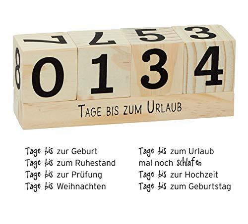 itsisa Countdown Würfel aus Holz, Vintage Look - Tage bis - Countdown Zähler, Countdown Würfel, Weihnachts Countdown, Geb