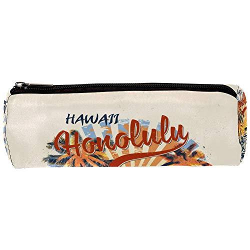 Schlamperbox Federmäppchen Hawaiianischer Vintage Bus Mäppchen 3D-Druck Bleistift Beutel...