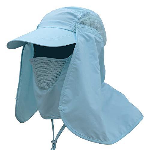 WEKNOWU Gorra de pesca, gorra de béisbol, unisex, protección UV, con cuello largo, solapa para deportes al aire libre