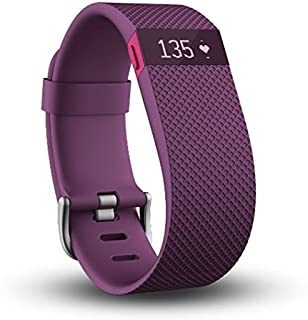 Fitbit Charge HR Wireless Activity Wristband, Plum - Large, FB405PML