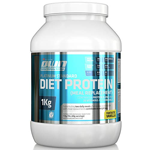 OWN - Platinum Standard Diet Protein, Diät-Protein-Shake als Mahlzeitenersatz, Vanillegeschmack, 1kg