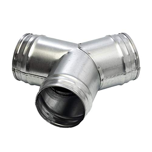 Vent Systems 4'' Inch Duct Connector 3 Way Hose Adapter/Splitter for Hose T-Shape Round Pipe Connector- Extractor Fan - Duct Hose Dryer Vent T Connector - 4 Inch 3 Way Fitting Metal
