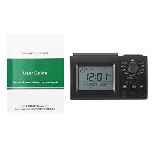 Islamic Azan Alarm Clock, Muslim Azan Table Prayer Clock HA-3006, Digital Muslim Prayer Alarm Athan...