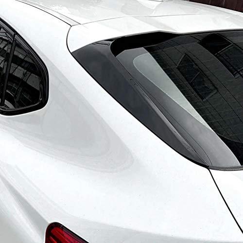 wuwenjun 2 uds ABS Negro Brillante ala Lateral Trasera Techo Spoiler Pegatinas Cubierta embellecedora para BMW X4 G02 2019+