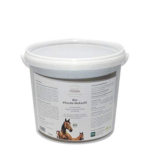 Generisch Bio Pferde-Bokashi 3,4 kg, Ergänzungsfuttermittel für Pferde mit wertvollen Allgäuer Kräutern, Original Effektiven Mikroorganismen und Weizenkleie