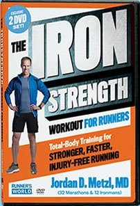 The Iron Strength Workout for Runners World Jordan Metzl, MD 2 DVD Set