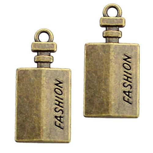 joyMerit 10 Stücke Glück Antik Messing Charms Anhänger Handwerk Schmuck Halskette - Quader, 20-37mm
