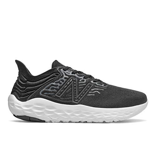 New Balance Women's Fresh Foam Beacon V3 Running Shoe, Black/White, 8.5 M US