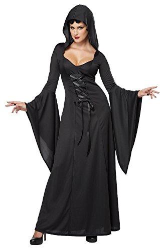 Generique - Dämonisches Hexen-Kostüm für Damen Halloween Vampirin schwarz L (42/44)