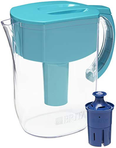 Brita Longlast Everyday Water Filter Pitcher, Turquoise, Large 10 Cup, 1 Count
