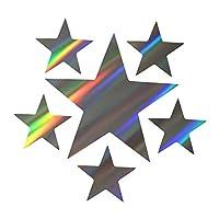 人格創造的な5つ星愛国的な車のステッカーラップトップ荷物ステッカー(18x17.2cm) (Color : 4)