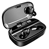 VEENAX T18 True Wireless Earbuds, Bluetooth Headphones Touch Control, TWS Sport Earphones with Microphone, Stereo in Ear Headset with Bass+, Power Bank, 200H Playtime/CVC 8.0/IPX7 Sweatproof, Black