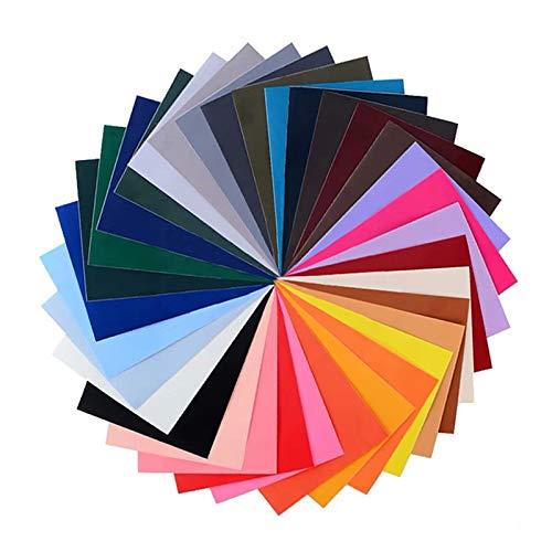 GloBal Mai Selbstklebende Patch-Sticker - Nylon Patch, 34 Farb-Anzüge, geeignet für Glatte Stoff Rucksäcke, Zelte, Regenschirme, Regenschirme und andere Nylon-Materialien.