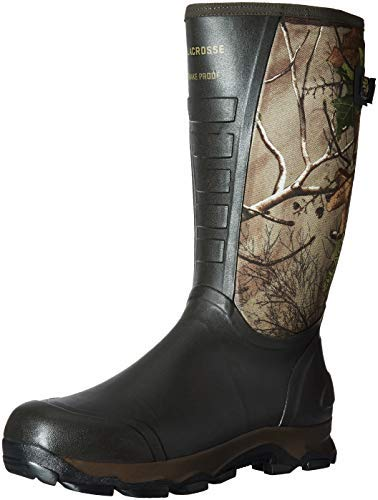 "LaCrosse Men's 376121 4xAlpha 16"" Waterproof Hunting Snake Boot, Realtree Xtra Green - 12"
