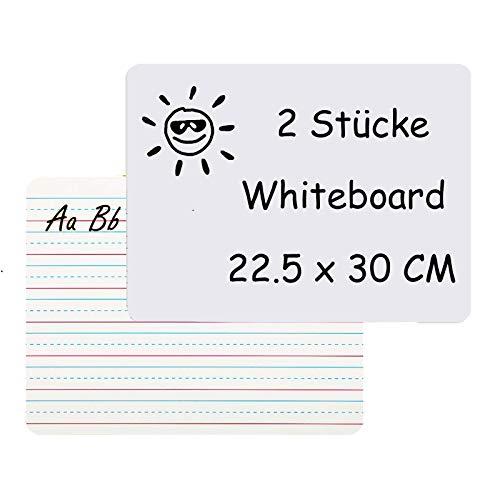sorliva Mini Whiteboard 2er Set, kleine Schreibtafel mit Doppelseitig Tragbaren, Abwischbaren Whiteboards,Reinigen Lapboard für Kinder Lektionen Schulzimmer Büro Küche