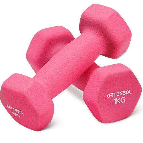 arteesol Manubri Peso Fitness 1kg/2kg/3kg/4kg/5kg/8kg/10kg Coppia di manubri Leggeri Pesanti per Uomini Donne Pesi Palestra di Esercizi per la Forza Impermeabili (Set di 2)