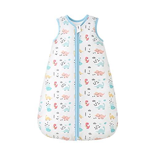Mosebears Saco de dormir de verano para bebé, 0,5 tog, 100% algodón, transpirable, saco de dormir para bebé