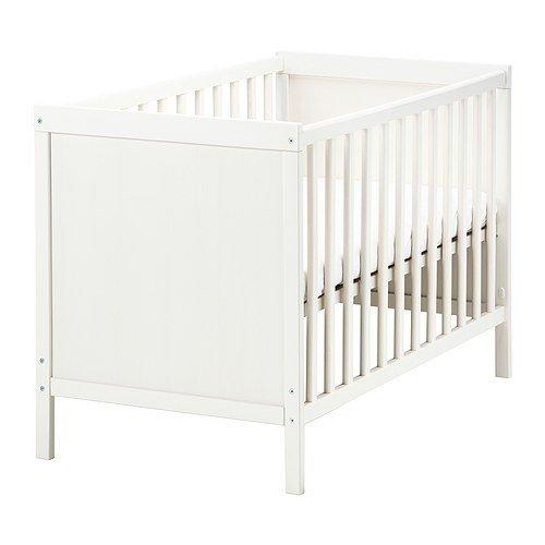 Ikea SUNDVIK Kinderbett, Weiß, 60 x 120 cm