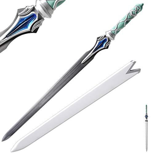 Sword Fort Handmade Katana Japanese Anime Cosplay Sword, Stainless Steel, Sharp Knives,Sword Art Online,SAO, Asuna's Swords,New Lambent Light 42inch