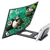 OFFA HD12 Pollici 3D Curva Lente Ingrandimento Smartphone, Proiettore Magnifing Schermo Ingranditore...