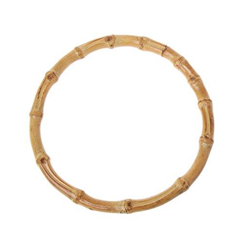 William-Lee - 1 Bolsa de bambú Redonda para Bolsos Hechos a Mano, Accesorios de Bricolaje