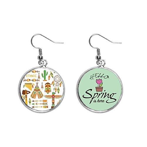 Totem tradicional indio americano atrapasueños decoración colgante temporada primavera pendiente joyería