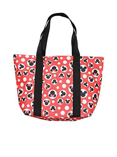 Disney Tote Travel Bag Mickey Minnie Mouse Icon Print (Red - Mickey & Minnie)