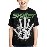 Tengyuntong Camisetas y Tops Hombre Polos y Camisas, Camiseta Unisex Joven Skillet Band Camisetas para niños Camisetas