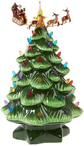 Animated Nostalgic Ceramic Tabletop Christmas Tree