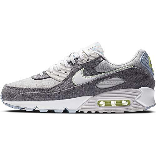 Nike Air MAX 90 NRG, Zapatillas para Correr Hombre, Vast Grey White Barely Volt Celestine Blue BRT Crimson Black, 40 EU