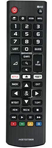 ALLIMITY AKB75375608 Mando a Distancia reemplazado por LG 4K UHD TV 32LK6100 32LK6200 43LK5900 43LK6100 43UK6300 43UK6400 43UK6470 43UK6500 43UK6750 49LK5900 49LK6100 49UK6300 49UK6400