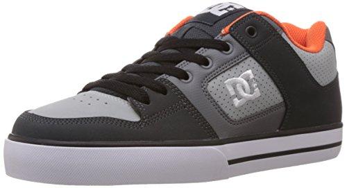 DC Shoes Pure, Zapatillas Deportivas Hombre, Grigio Arancione Grigio, 38.5 EU