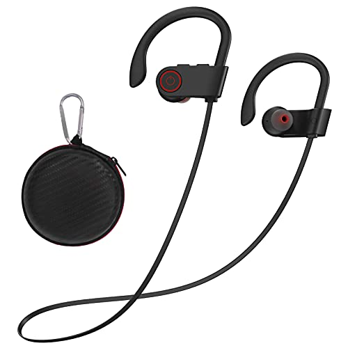 Argmao U9 Bluetooth Headphones, 12 Hrs Playtime Wireless Earbuds IPX7 Waterproof Earphones with Mic HD Stereo Sweatproof in-Ear Earbuds for Sports Gym Running Workout Noise Cancelling Headsets