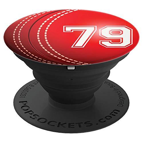 Cricket #79 Cricket Player Trikot Nr. 79 Handy Griffe Gesche - PopSockets Ausziehbarer Sockel und Griff für Smartphones und Tablets