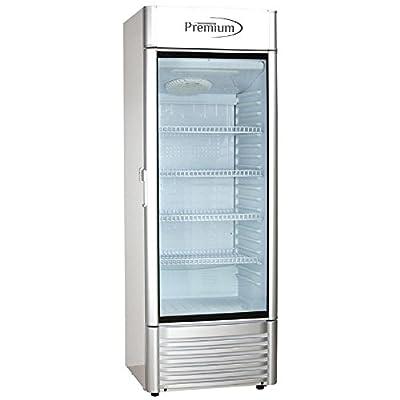 Premium PRF125DX 12.5 cu. ft. Single Door Merchandiser Refrigerator, Gray