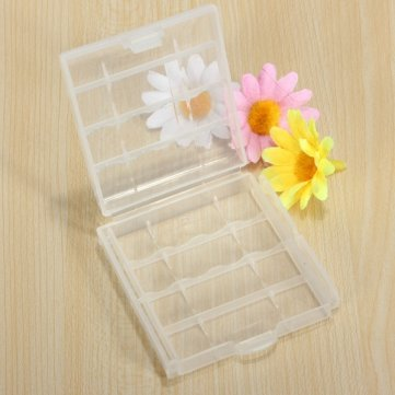 Bheema AA / AAA Storage Case Case Plasitc blanc pour 4 piles