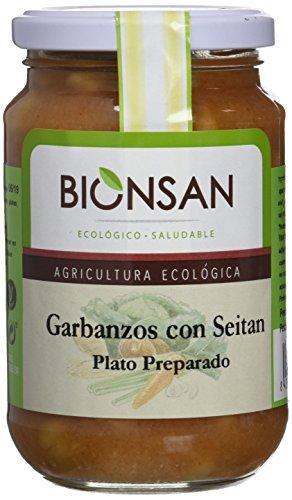 Bionsan Cocido Ecológico de Garbanzos con Seitán - 6 Botes de 220 gr - Total: 1320 gr