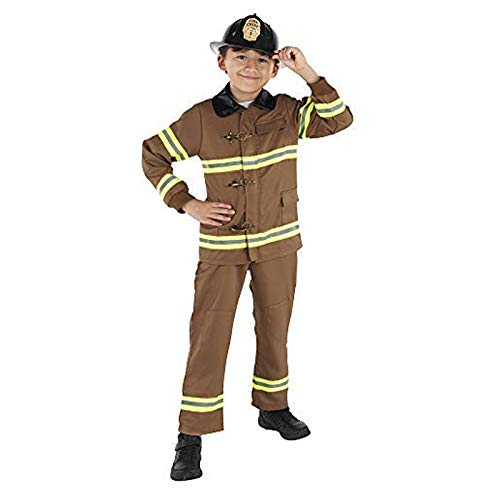 Dress Up America Disfraz Bombero para niños, Multicolor (Multi), talla 4-6 años (cintura: 71-76, altura: 99-114 cm) Unisex Adulto
