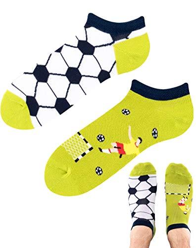 TODO Colours - Calcetines para zapatillas de fútbol con diseño de balón de fútbol, multicolor Tiempo de fútbol. 35-38
