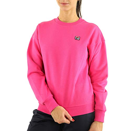 FILA Suzanna Crew Sweat 687456 A163 Pink Yarrow - Sudadera para mujer, color rosa rosa S