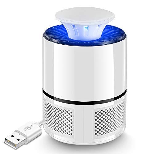 Rpanle Moskito-Killer-Lampe, Tragbare Elektrische Insekten-Moskito-UV-Fallenleuchte für Schlafzimmer und Gärten in Innenräumen, weiß