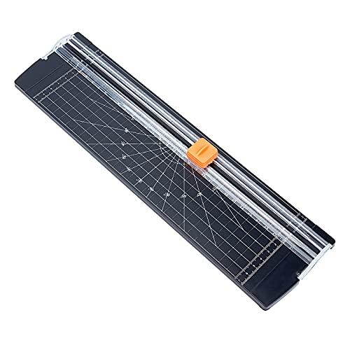 CHGCRAFT ペーパーカッター 裁断機 替え刃付き 安全軽量カッター 紙 写真 A2 A3 A4 A5サイズ対応 携帯便利 黒