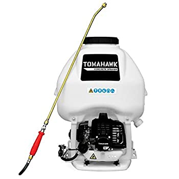 Tomahawk 6.5 Gal Motorized Backpack Concrete Sprayer with Wand and .5 GPM Fan Nozzle Included