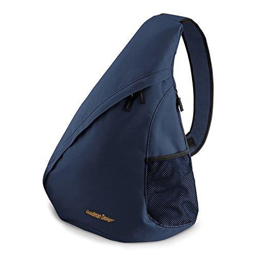 Moderner Messenger Dreieck-Rucksack, Umhängetasche, Body Bag, Crossover Sling Bag Farbe: Navy-Blau - Goodman Design ®