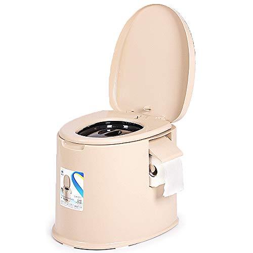 TSSM Tragbare Toilette für den Außenbereich Chemietoilette mit Spülung für sanitäre Einrichtungen im Töpfchen Geeignet für ältere Erwachsene Schwangere Wohnwagen und Boote