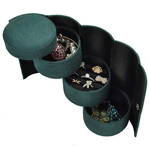 Cajas de joyería exquisitas organizador de joyas cofre de joyas regalo de boda de moda regalo de cumpleaños clásico pequeño terciopelo portátil