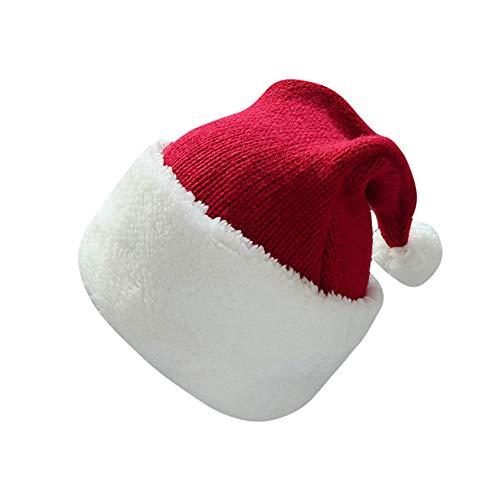 QHJ Chapeau Chapeaux de Noël en Velours pour Enfants en Bas âge Bonnets Chauds pour Noël Nouvel an Fournitures de fête pour fêtes et Cadeaux
