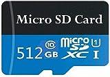 512GB Tarjeta de Memoria Micro SD Micro SDXC de 500GB + Adaptador SD, Clase 10, para teléfono, Tableta y PC