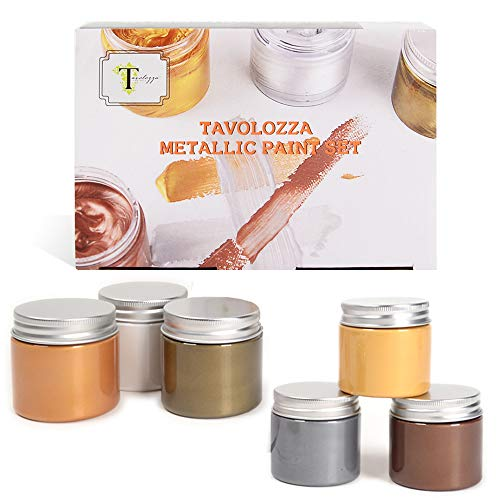 Tavolozza - Acrylfarbe 6 Set oder Papier, Leinwand, Holz, Keramik, Stoff & Kunsthandwerk
